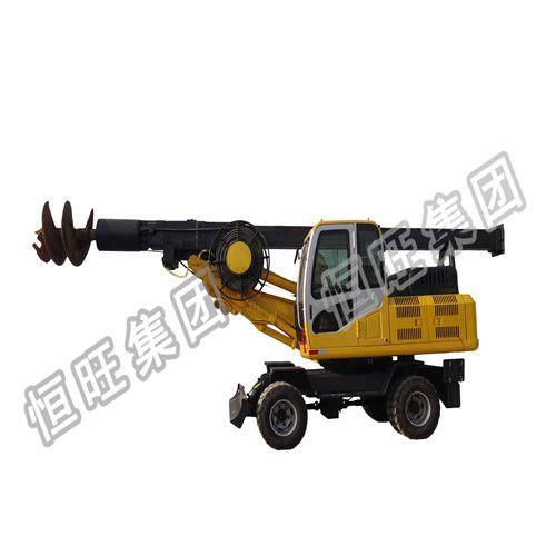 出售地基打桩机 建筑工地用地基打桩机15米轮式旋挖钻机