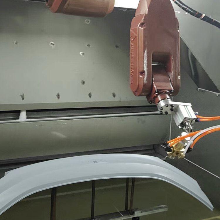 吉利汽车机器人涂装线 工业机械手喷漆 塑胶外壳喷涂
