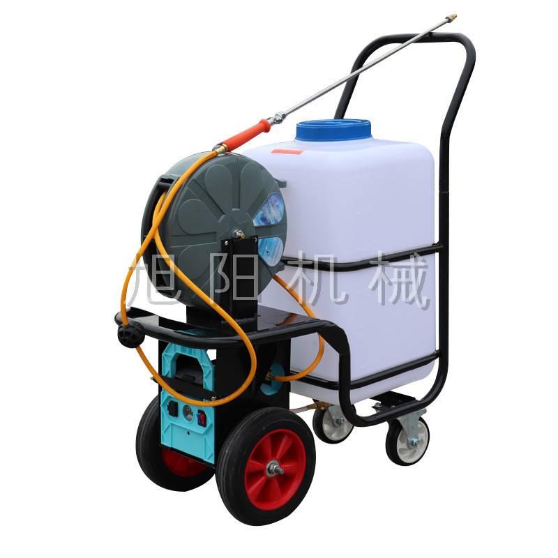 新款60L雙泵高壓打藥機電動手推式四輪噴霧機畜牧用消毒噴霧器