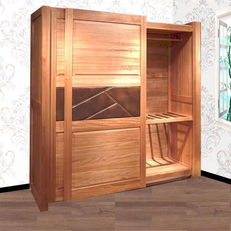 牛仔部落 北欧艺家实木衣柜西部牛仔胡桃木家具定制