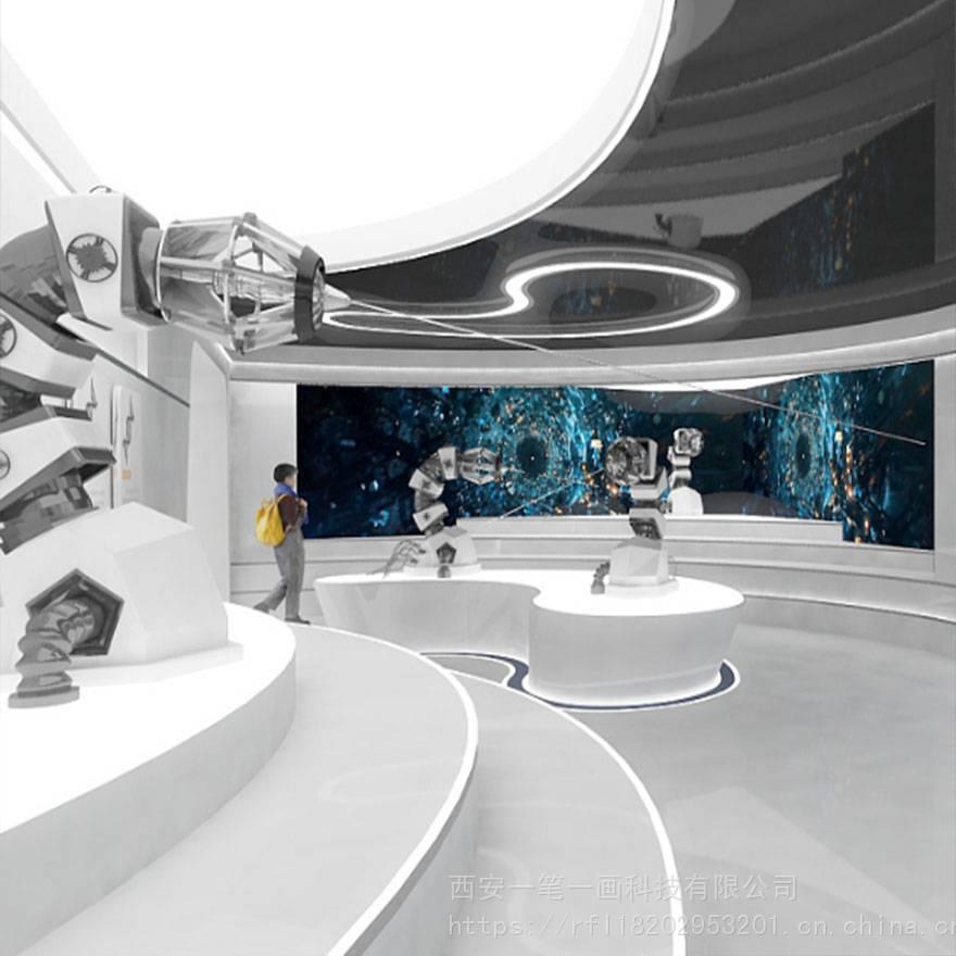 数字化科技多媒体展馆展厅互动设计 数字化智能多媒体展馆展厅的空间图片