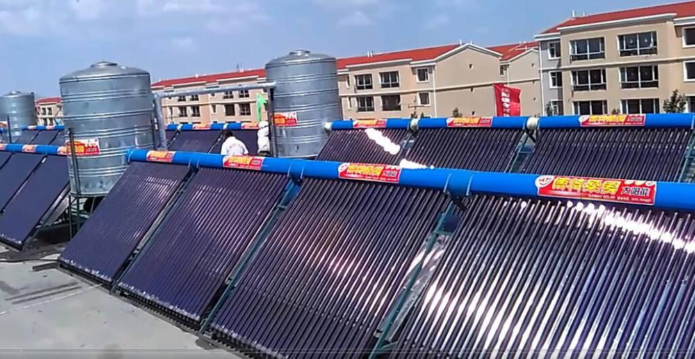 包头太阳能热水器_包头宾馆太阳能_包头酒店太阳能热水工程