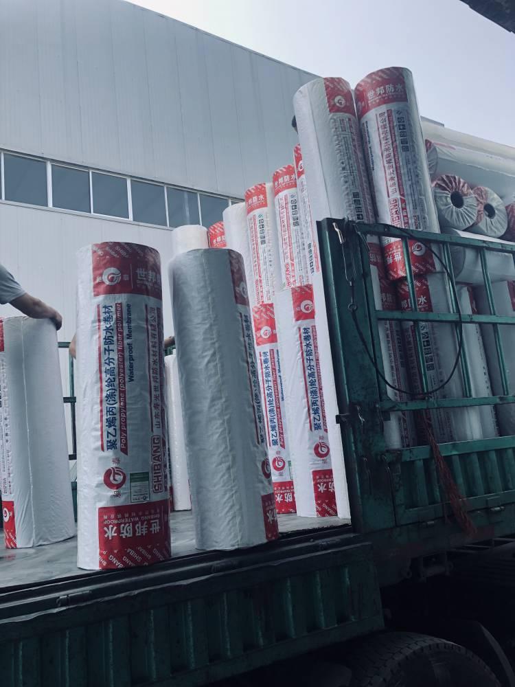 昶泰牌 批发聚乙烯丙纶 涤纶高分子防水卷材 卫生间屋顶防水材料