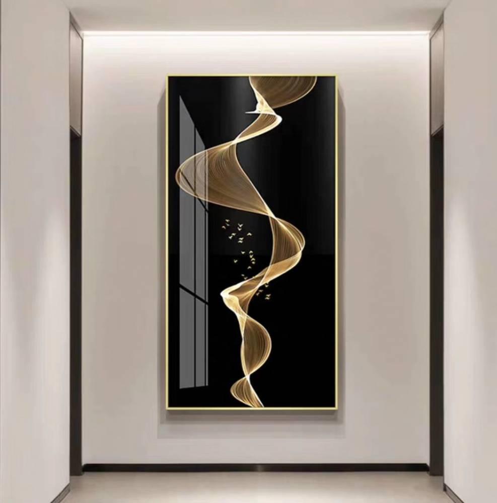 歐洲印象派方格钛金不鏽鋼畫框鏡框加工定制_304不鏽鋼方圓畫框鏡框定制