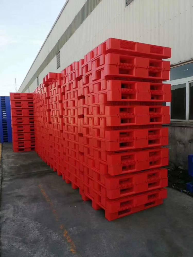 重庆黔江塑料托盘生产厂1210九脚网格塑料托盘黔江食品塑料托盘厂家
