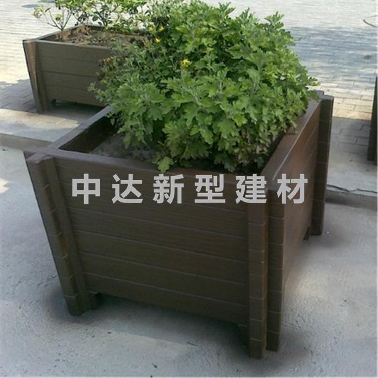 水泥仿木花箱 组合式花箱花盆 水泥仿木花桶定制批发