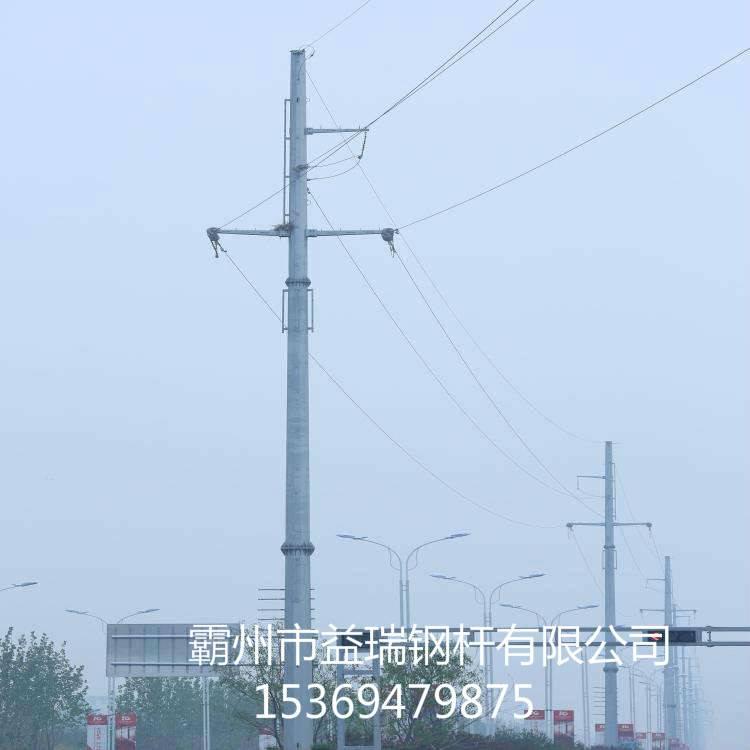 长沙市10kv18米转角钢管杆 双回路10kv耐张钢管杆