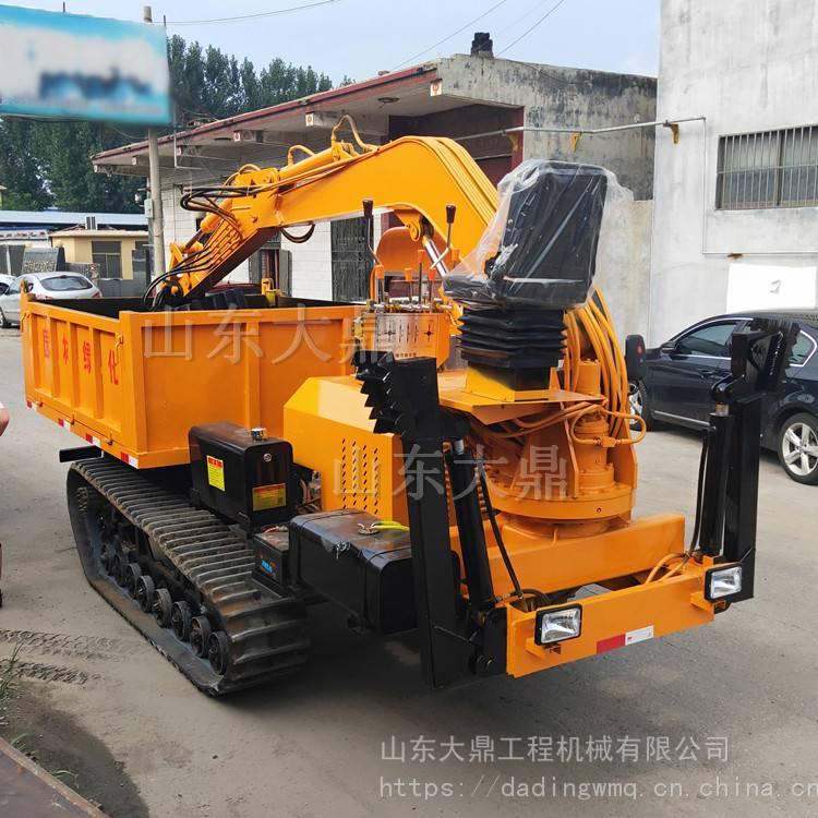 运履带车   上一个 下一个>  履带式随车挖掘机是我公司新开发的一款图片