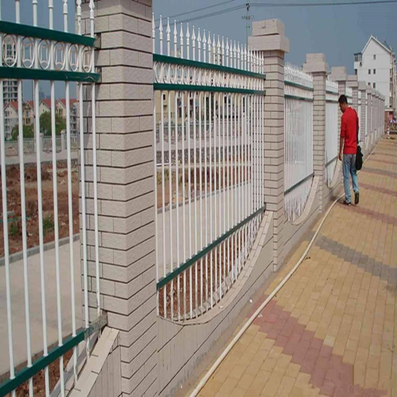 久卓围墙铁栅栏厂家 定制生产 学校小区围墙栅栏 锌钢防腐