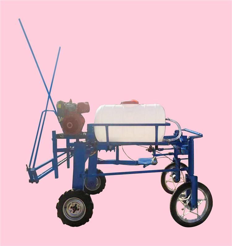 小麦玉米四轮自走式打药机 汽油手推打药机厂家 带自动卷管功能