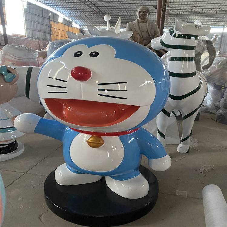 玻璃钢机器猫雕塑 卡通动漫雕塑 广州玻璃钢制品厂