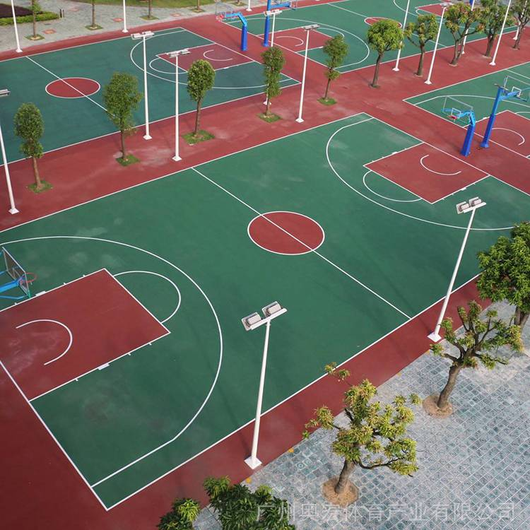 硅pu网球场造价,株洲塑胶篮球场图片