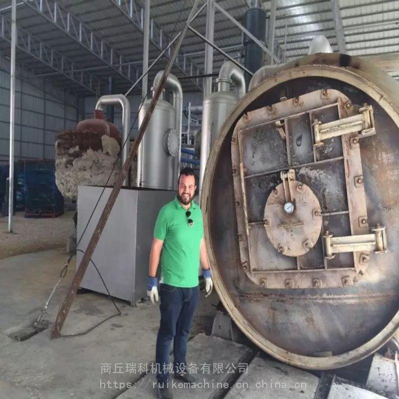 日处理10-12吨全新型冷凝系统废轮胎废橡胶裂解高效炼油设备厂家定制