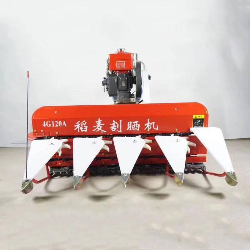 艾草割晒机割台 华拓牌苜蓿收割机 4G100玉米割晒机价格 加厚锰钢材质割台