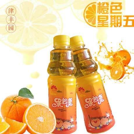 橙汁果蔬汁饮品果粒爽326ml*24瓶夏季新品饮料学校瓶装饮料