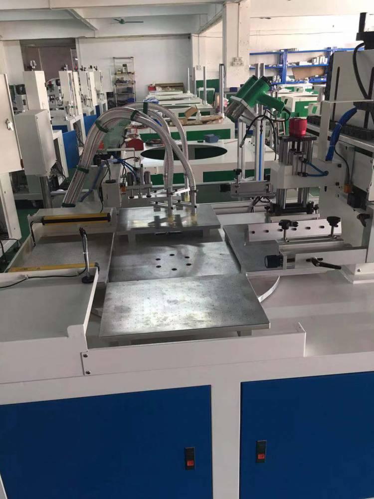 汕头啤酒箱塑料箱曲面丝印机厂家全自动丝印机
