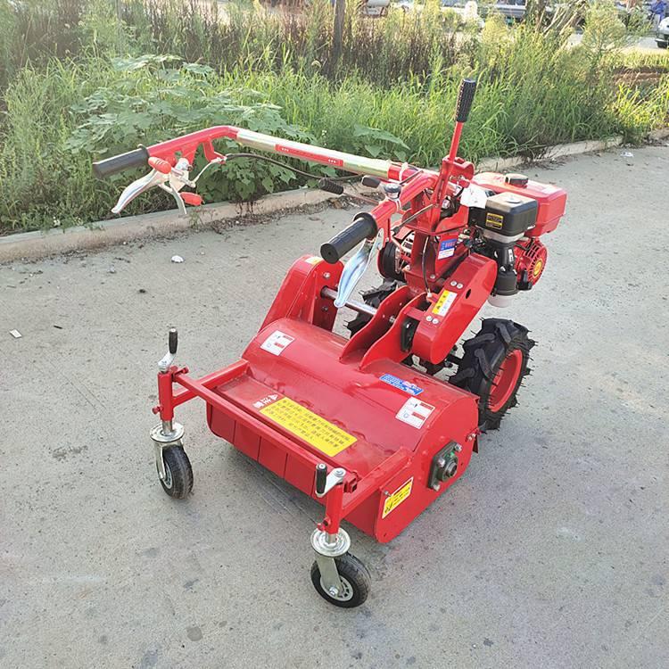 果园自走式割草机 多功能手扶柴油前置灭草机