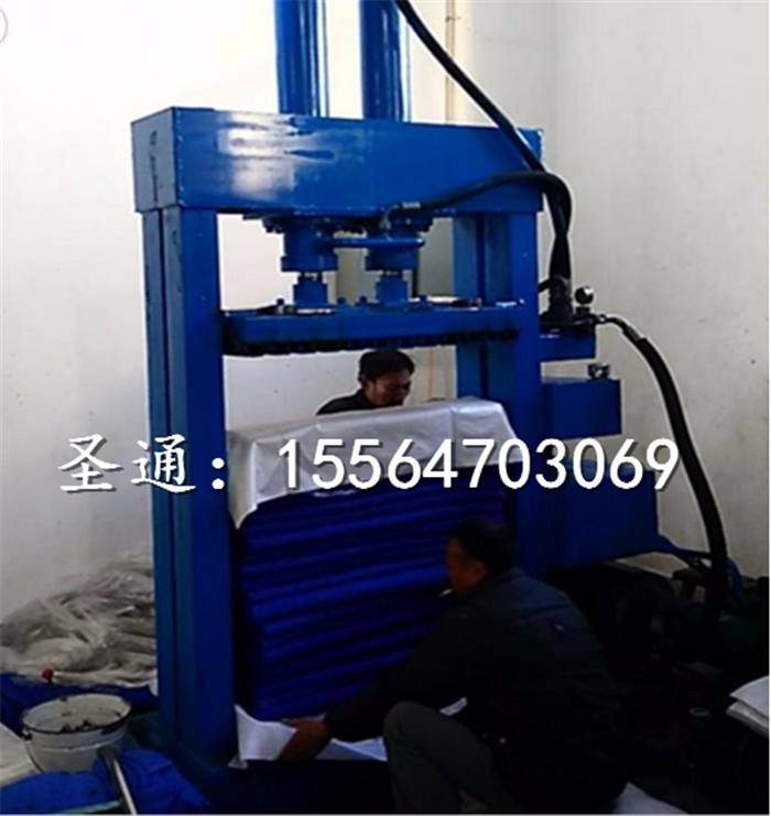 定制款无门棉包挤压机 圣通立式液压打包机