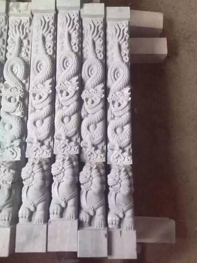 墓碑立柱、龍柱、碑帽、碑心雕刻
