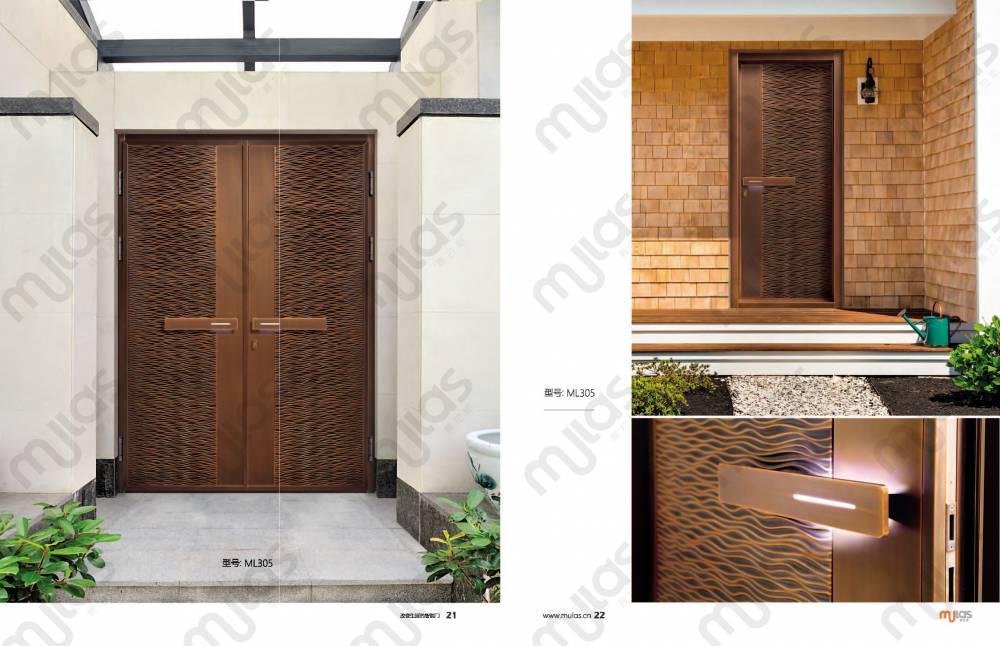 佛山慕拉斯智能門新中式銅門別墅銅門廠家