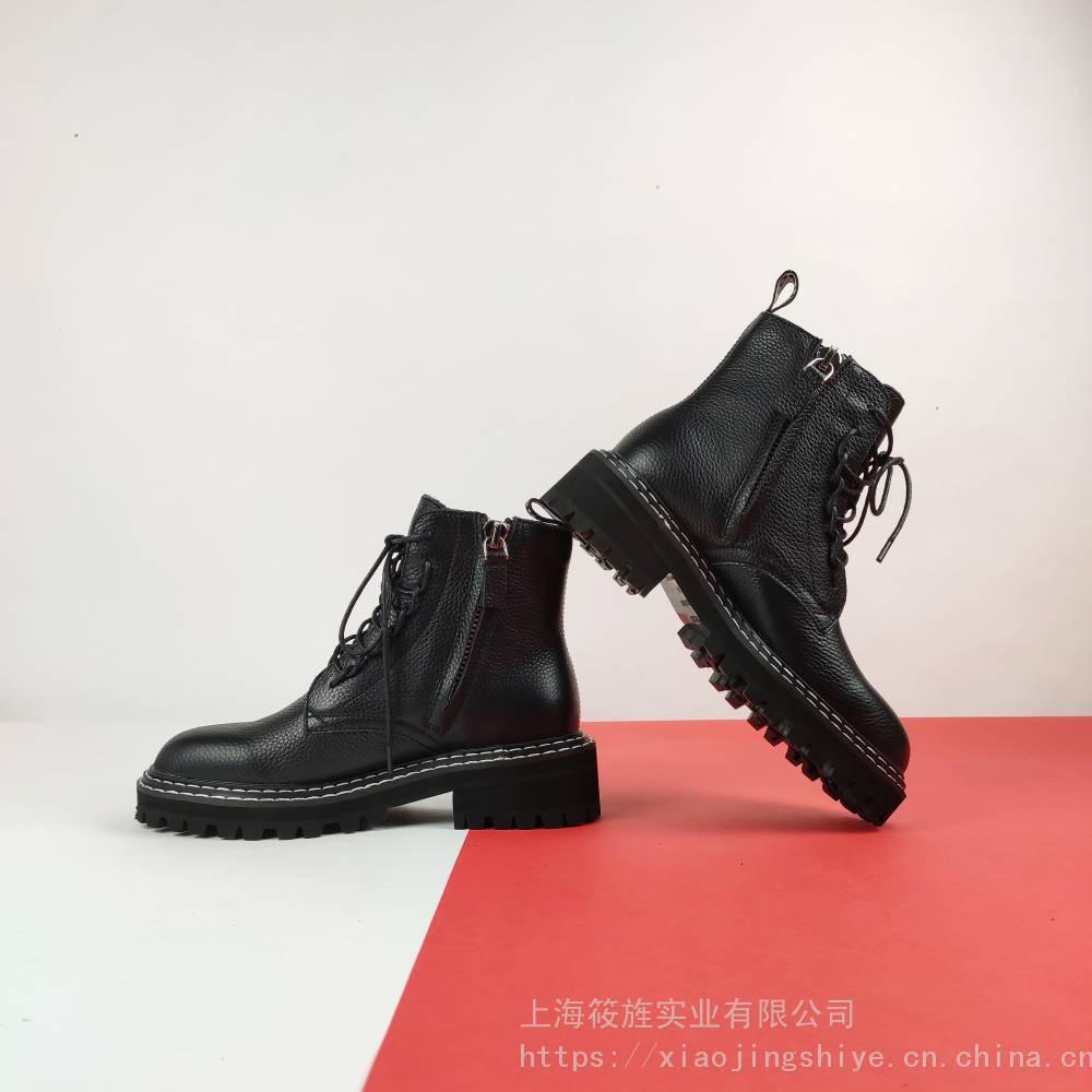 女鞋 真皮皮靴 时尚皮靴 马丁女靴 机车女靴 个性女鞋 复古女靴 平底马丁靴