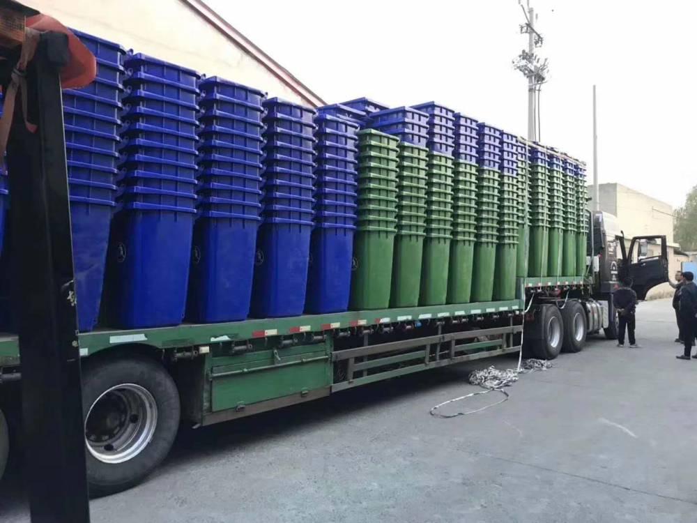 厂家生产的小区分类垃圾桶装车视频-山东信源塑业