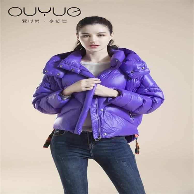 杭州服裝批發市場 2019冬季羽絨服女歐美個性羽絨服折扣女裝