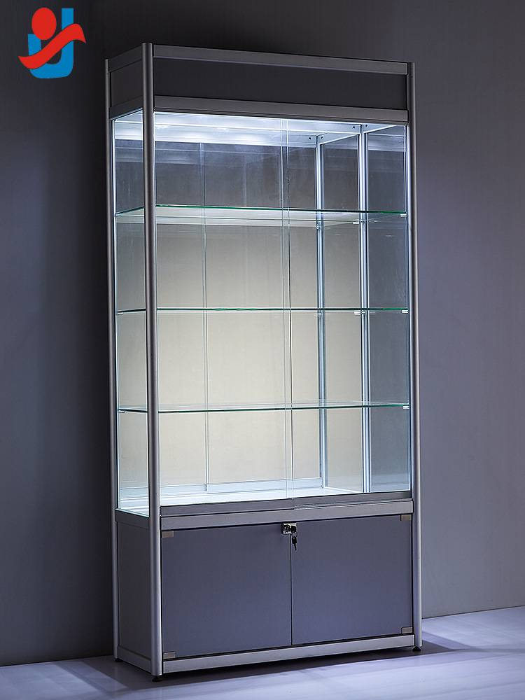 【工厂直销】玻璃柜 样品展示柜铝合金化妆品展柜首饰玻璃展柜