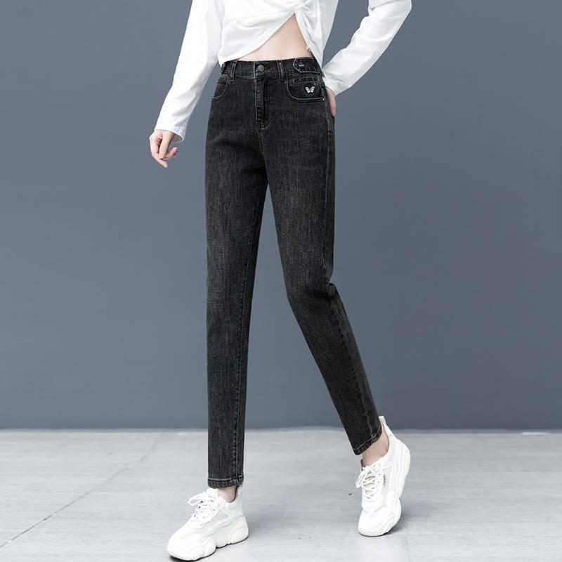 反季囤貨女裝時尚牛仔褲庫存尾貨批發抖音主播貨源
