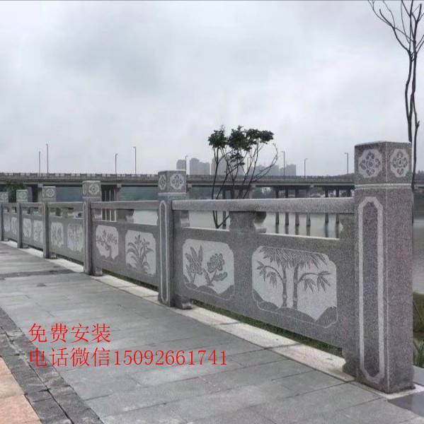 石栏板 石栏杆安装效果图展示