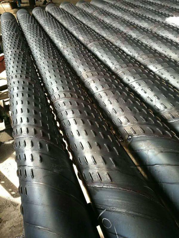 口径273mm螺旋桥式滤水管井点降水过滤器325井壁管车间