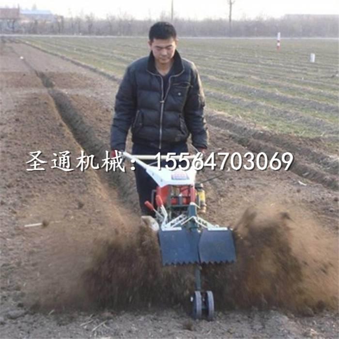 茬地种葱开沟机 自走式封沟培土机
