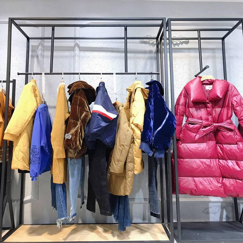 固麦卡冬装 冬季棉衣女装短款 代理女装 绍兴外贸服装批发市场