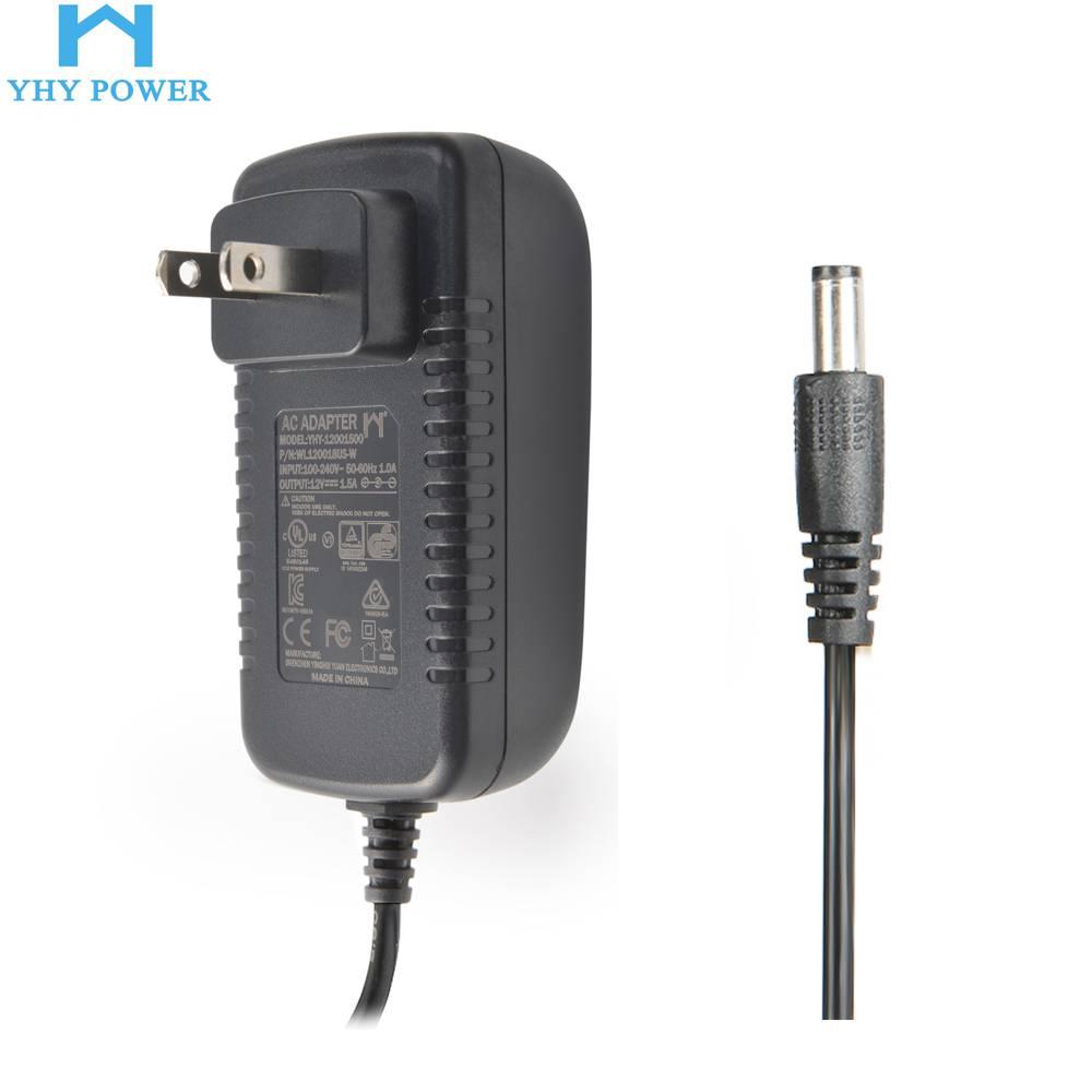 12V18W UL认证YHY能效等级level VI 12V1.5A电源适配器
