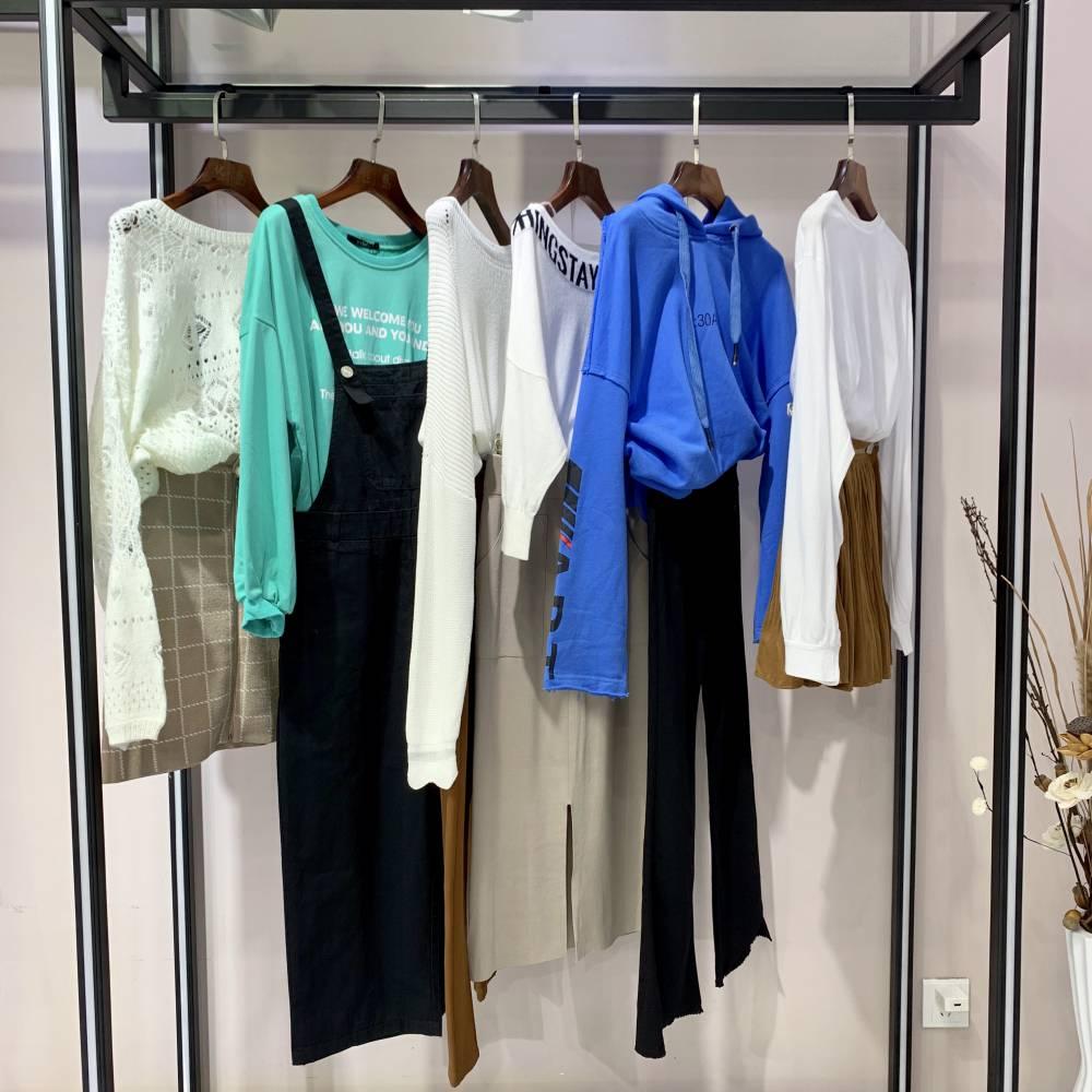 依袖19春装分份 时尚韩版 百搭货品 女装品牌折扣批发