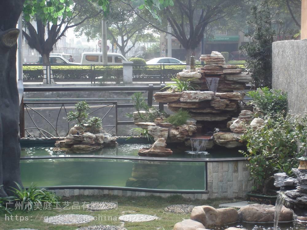 庭院假山设计制作何先生,别墅花园假山流水喷泉定做何先生,阳台假山图片