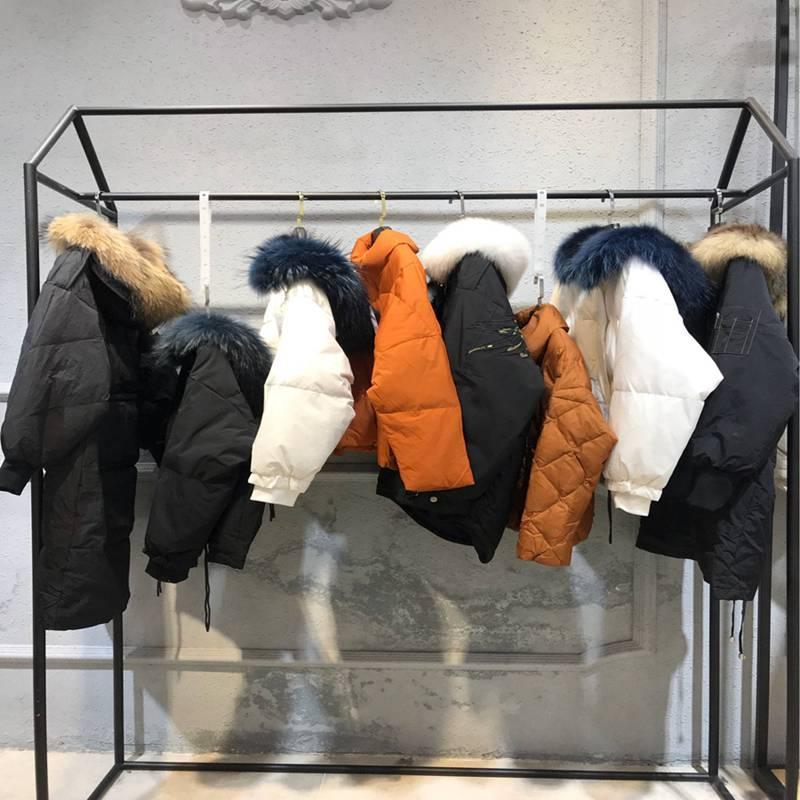 新梦铭冬装 新款女装羽绒服批 品牌女装尾单哪里拿货的 广州外
