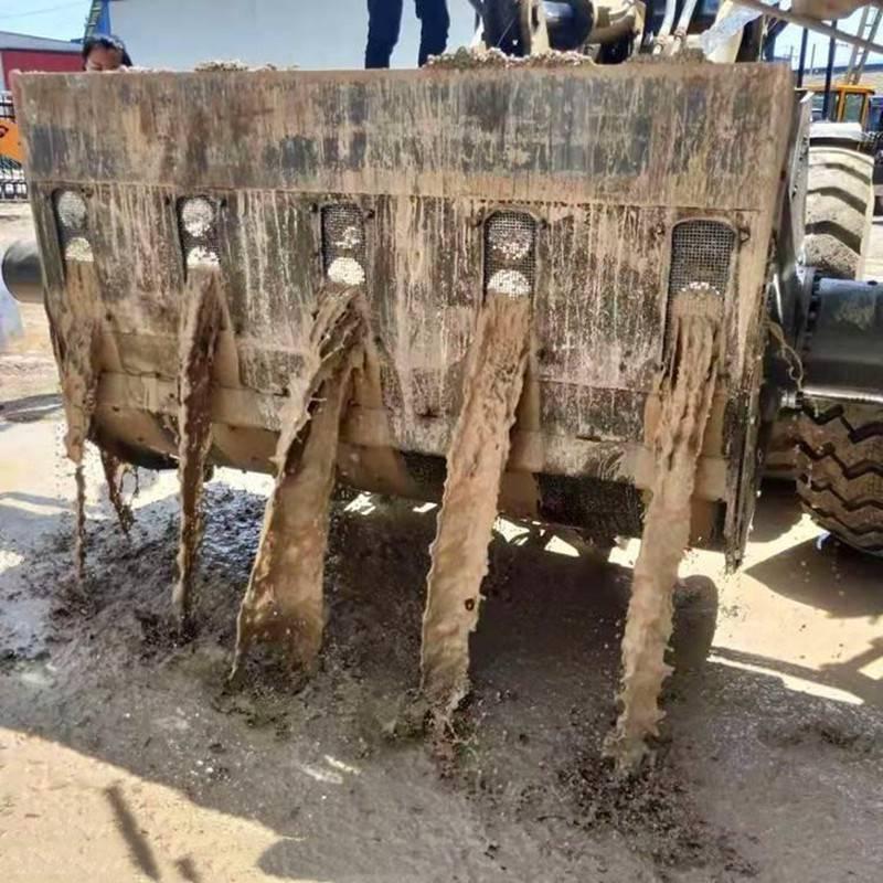 50铲车搅拌洗沙斗安装洗沙视频s