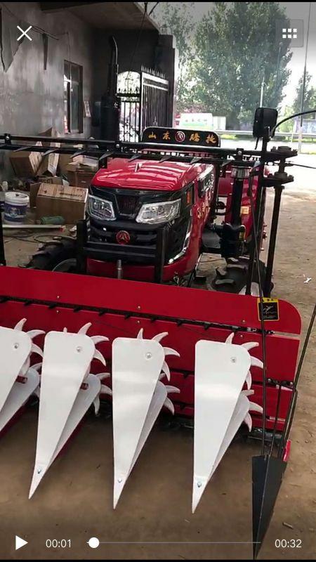 高粱秸秆收割机 拖拉机玉米收割机 高杆作物割晒机
