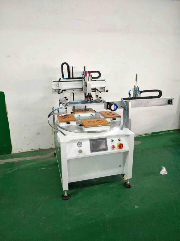 东营涂料桶油漆桶转盘丝印机厂家半自动丝印机