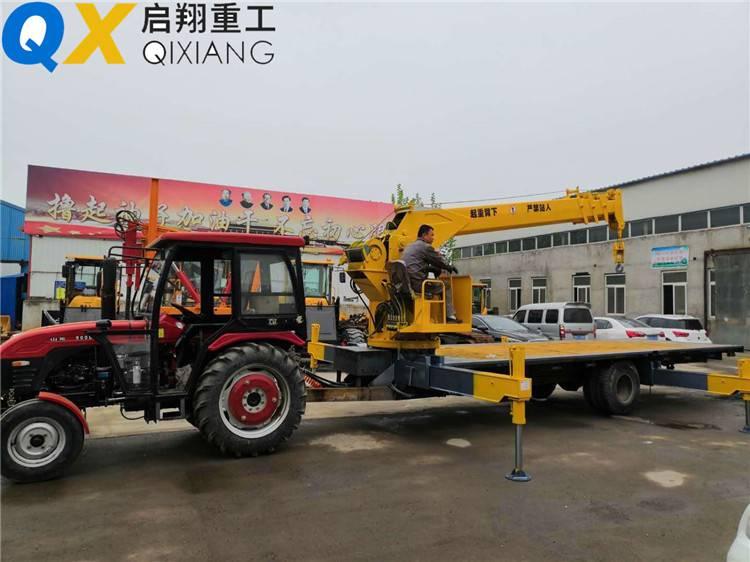 济宁启翔拖拉机平板吊生产,12吨拖拉机随车吊厂家定制