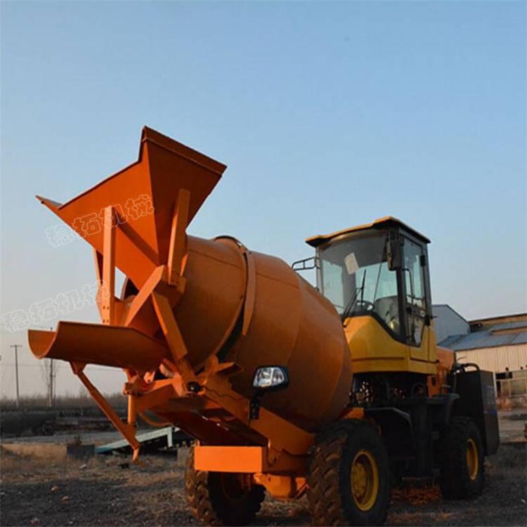 装载式混凝土搅拌车180度旋转运行顺畅下料均匀混凝土装卸好帮