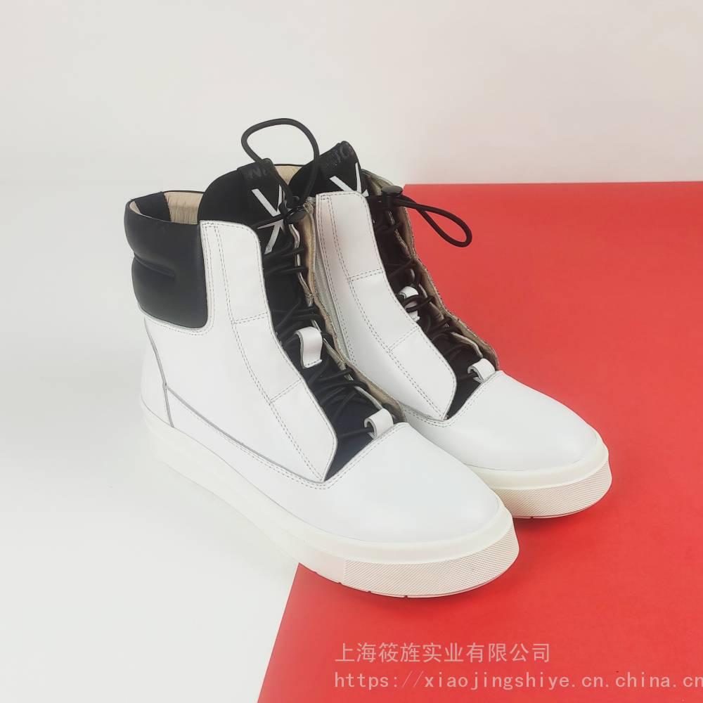 时尚高帮板鞋 女靴 真皮皮靴 平跟女靴 街头单靴 平跟板靴 可做男款男靴