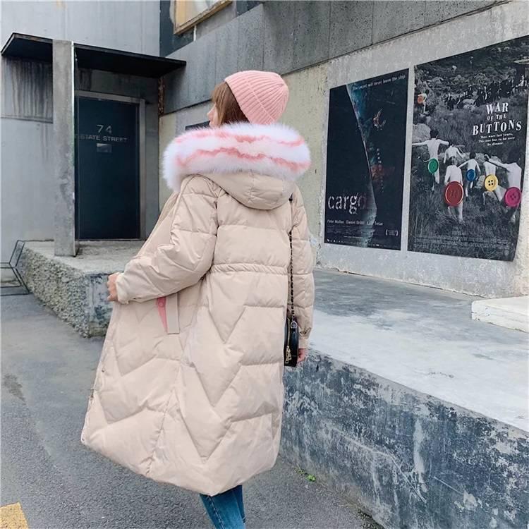 杭州四季青服装批发市场 品牌女装羽绒服短装外套长款风衣保暖羽绒服 品牌尾货羽绒服