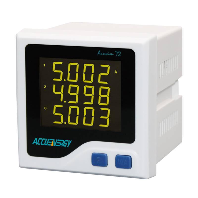 供应爱博精电Acuvim 72紧凑型三相电力仪表,大屏幕高亮度液晶显示