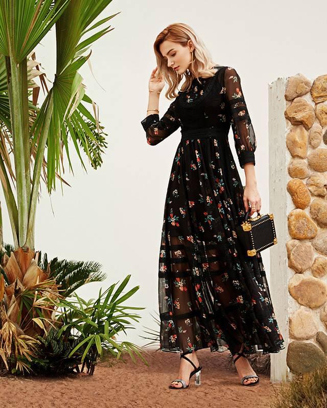 天海服装批发市场 连衣裙一件代发厂家货 太平鸟 哥弟 铜氨丝