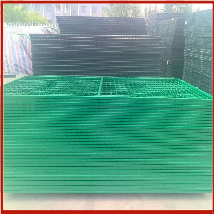 方管基坑护栏网现货 斜撑护栏网 铁线围栏网1米5高