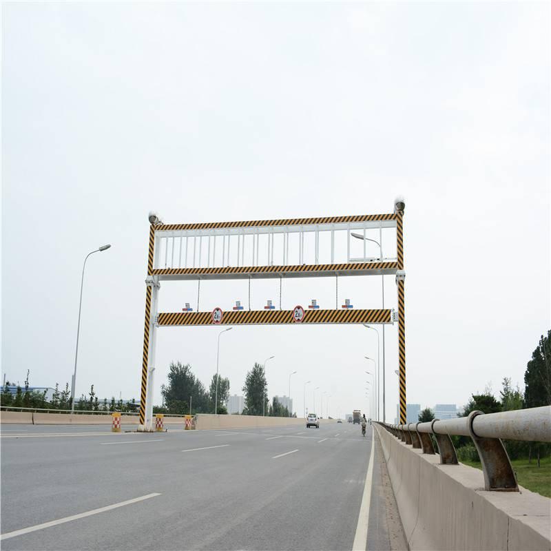 河南限高杆  采用优质钢 限高架遥控升降公路限高杆