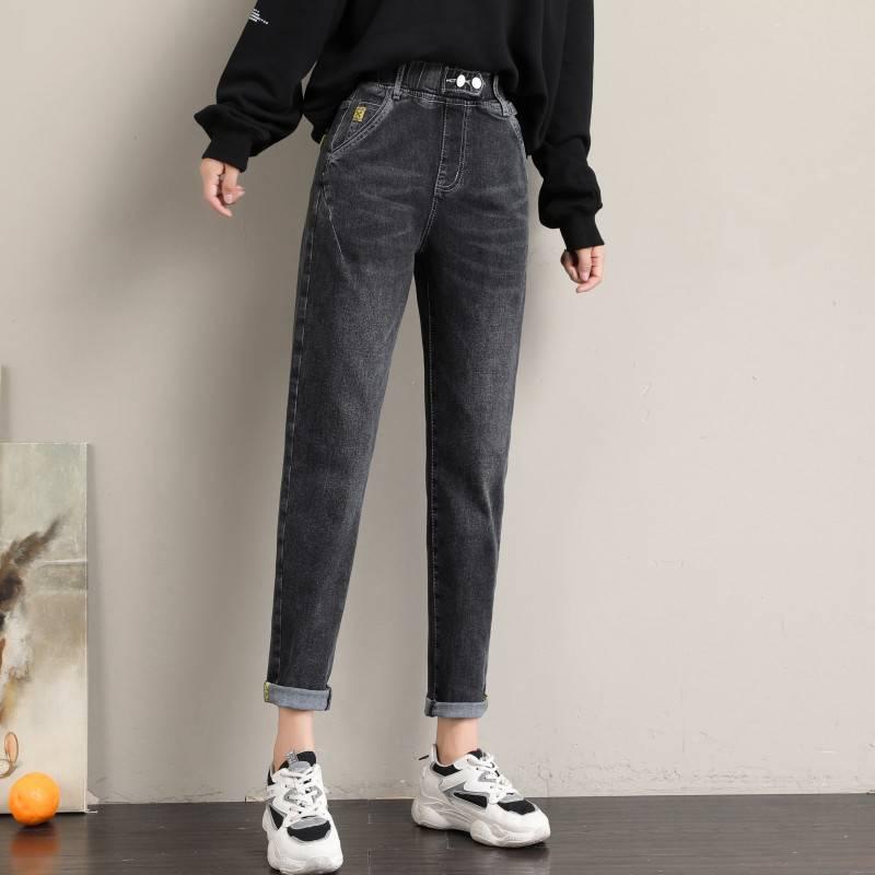 廠家批發新款網紅牛仔褲高彈力休閑褲子庫存尾貨批發品牌折扣女裝