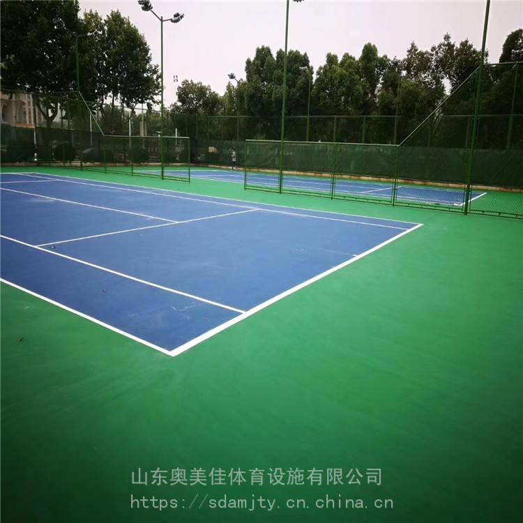 石家庄承建硅PU篮球场 丙烯酸塑胶网球场室外硅pu羽毛球场专